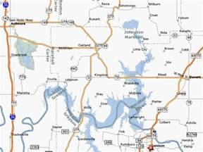 texoma map lake texoma map