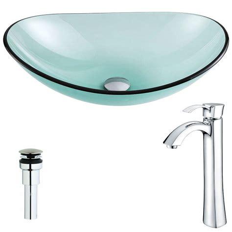 bathroom ls home depot anzzi voce series vessel sink in impasto green ls az191