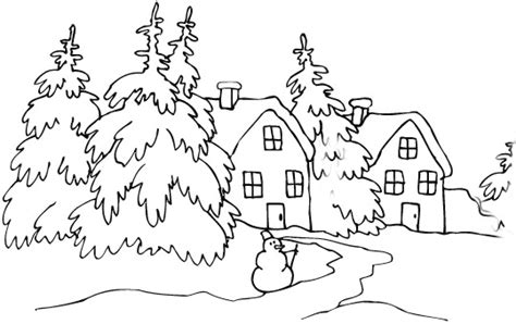 coloring pages of winter houses winter coloring pages fun winter images to color