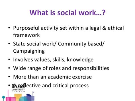 Social Workers Duties And Responsibilities by Course Presentation Social Work