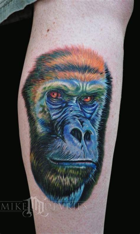 tattoo of us gorilla mike devries s tattoo designs tattoonow