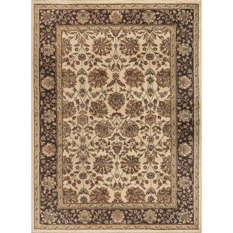 Tayse International Trading Ivory Brown Gold 8 X 10 8 X 8 Area Rug