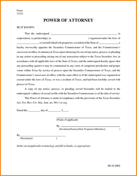 12 free printable power of attorney ledger paper