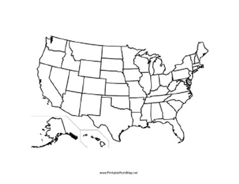 us map states unlabeled united states blank map