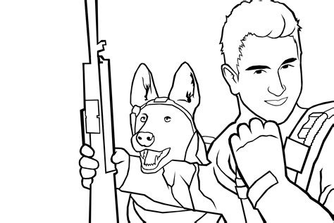 m call of duty ghosts easy coloring pages