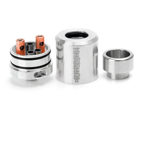 Mesh 24 Rda Atomizer Silver Clone kennedy 24 style silver dual pole rda atomizer with glass