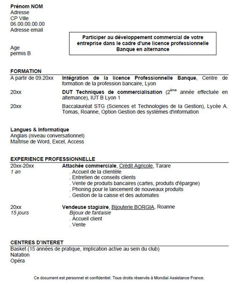 Exemple De Cv étudiant by Cv Exemple Stage Tudiant Studio Design Gallery