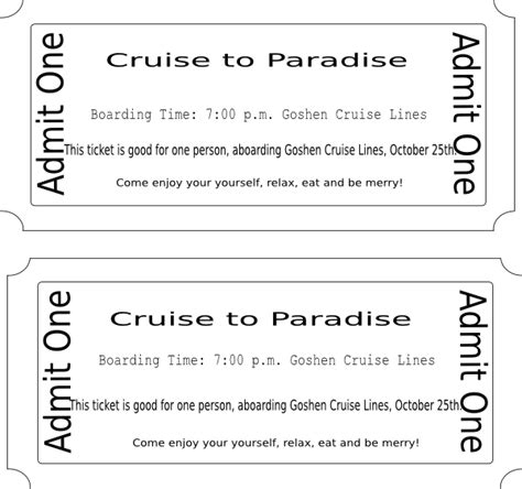 free printable cruise ticket template cruise ticket clip art at clker com vector clip art