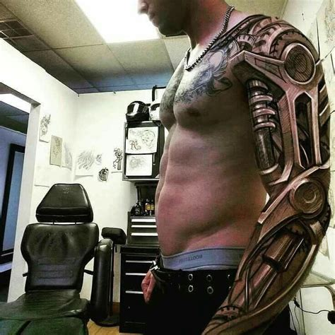 mechanical sleeve tattoo 25 best ideas about biomechanical on