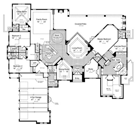villa house plans floor plans villa borguese 6431 5 bedrooms and 5 baths the house