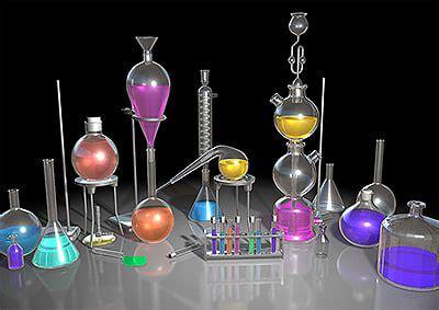3d chemicals lab chemistry 3d model
