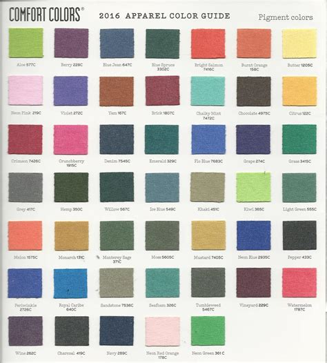 comforting colors comfort colors color chart comfort color monogram