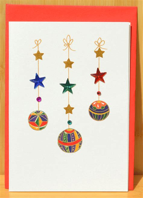 christmas card handmade christmas decorations on japanese