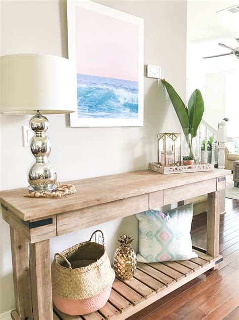 11 tips for styling your entryway table how to style a console table