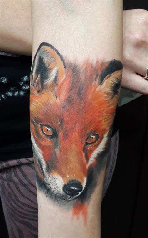 fox head tattoo fox images designs