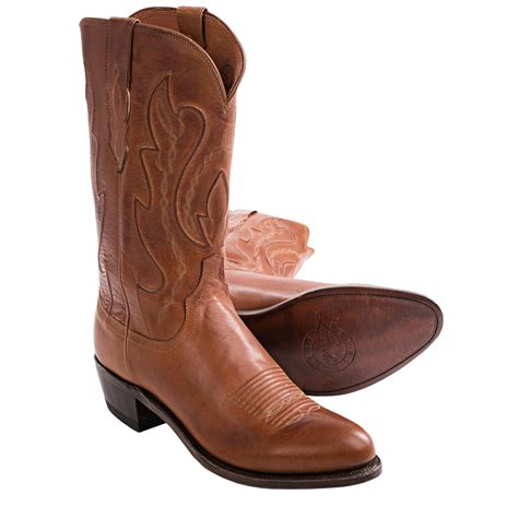 mens cowboy boots lucchese 1883 by lucchese ranch cowboy boots toe for