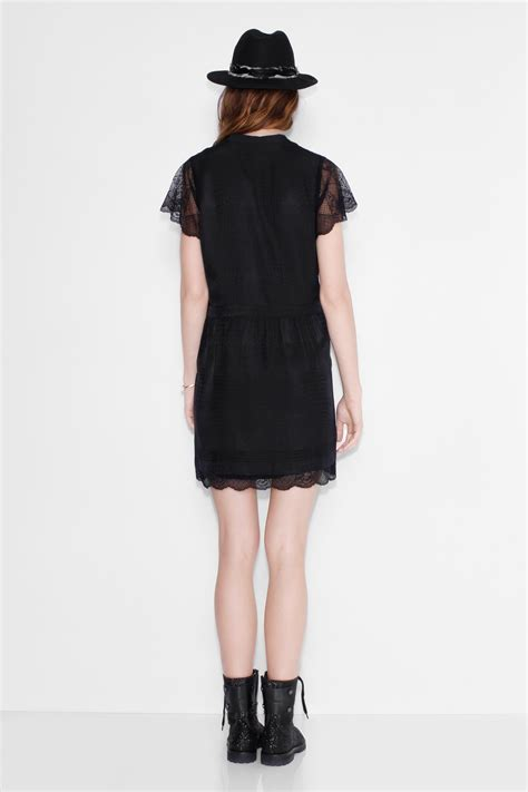 robe pour femme ricy jac deluxe robe noir zadig voltaire