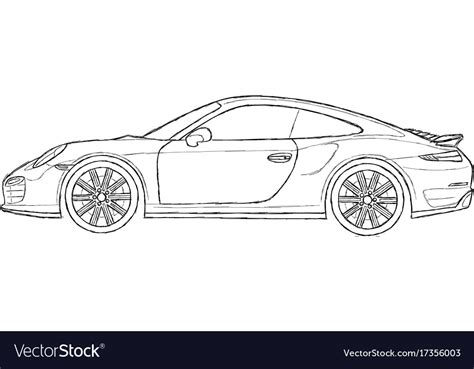 porsche logo vector free porsche 911 turbo royalty free vector image vectorstock