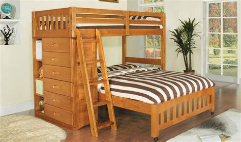 discovery world furniture honey twin  full loft bed