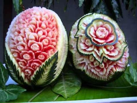 beauty carving watermelon ideas - YouTube Watermelon Carving Ideas