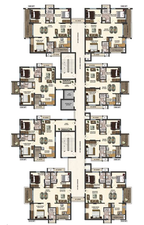 typical floor plans of apartments new flats for sale in hyderabad accurate s layout plans