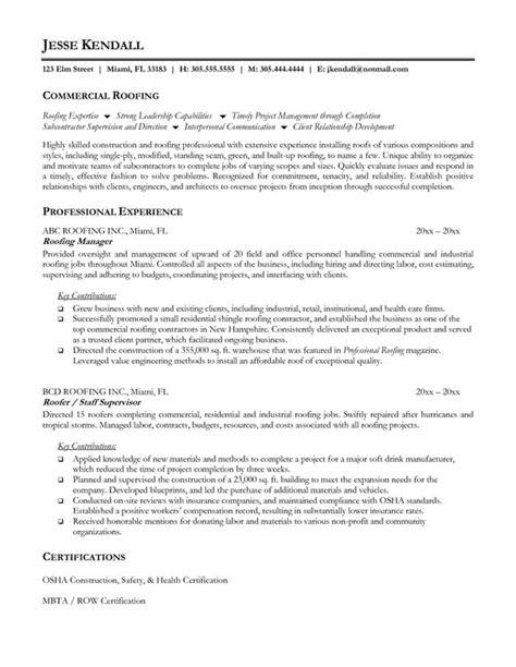 roofing sales resume exles persepolisthesis web fc2