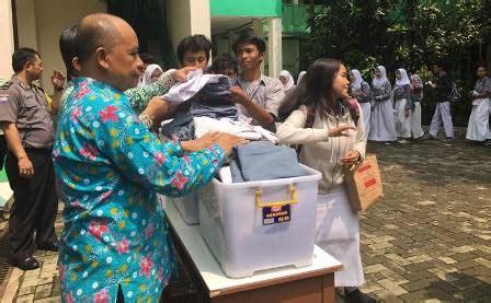 Baju Sekolah Terpakai usai unbk siswa menangah atas di tangsel donasi pakaian serpong update