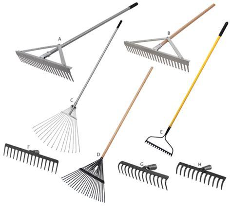 types of garden rakes slugger tools