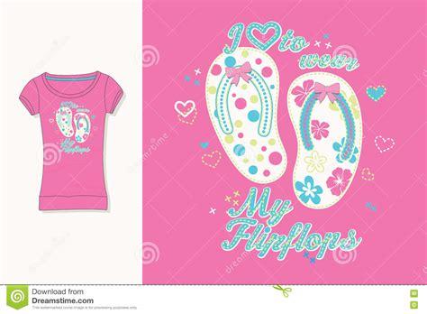 flips graphic design t shirt print graphic design artwork flips flops stock