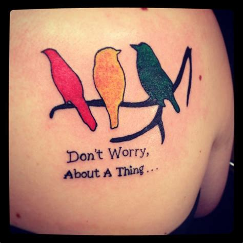 Tattoo Bob Marley Three Little Birds Painful Cute Bob Marley Tattoos Three Birds