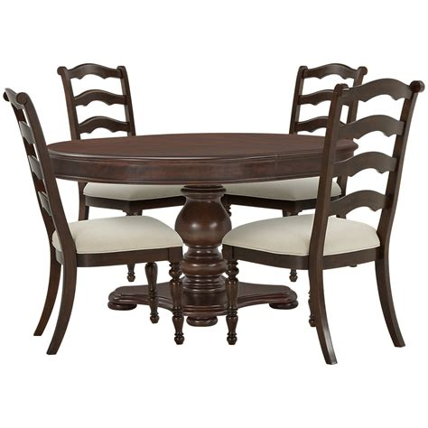 Round Table With 4 Chairs City Furniture Savannah Dark Tone Round Table Amp 4 Chairs