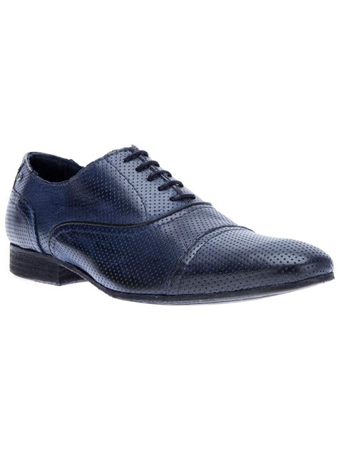 oxford shoes blue roberto cavalli laceup oxford shoe in blue for lyst