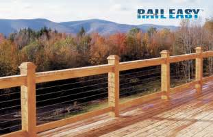 Pvc Handrail Systems Open Views And Add Style With A Rail Easy Cable Railing