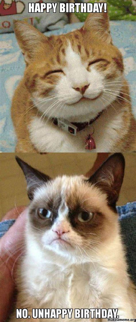 Side Sleeper Pro Canada by Happy Birthday No Unhappy Birthday Grumpy Cat Vs