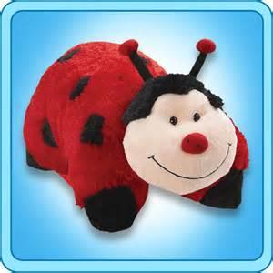 pillow pet ms ladybug 18 inch large folding plush stuffed
