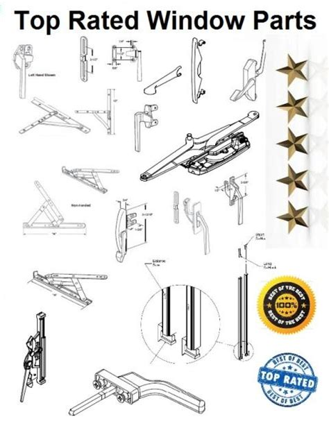 Awning Window Repair Parts by Biltbest Wood Window Sash Replacement Parts Casement
