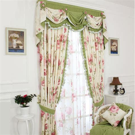 shabby chic floral curtains shabby chic curtain with floral pattern and green color