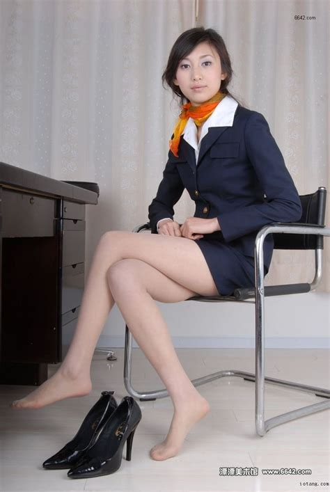 flight attendants spreading legs japanese pantyhose flight attendant beautiful dress