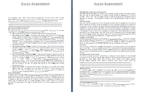 sales agreement template free agreement and contract