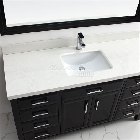 Calais 60 Inch Transitional Single Sink Bathroom Vanity 60 In Sink Bathroom Vanity