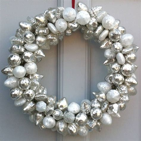 silver bauble wreath by idyll home ltd