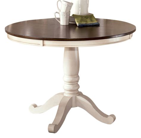 whitesburg dining table in brown white by dining