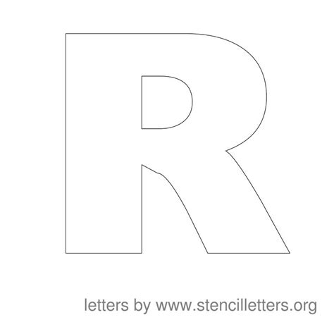 letter r template large stencil letters stencil letters org