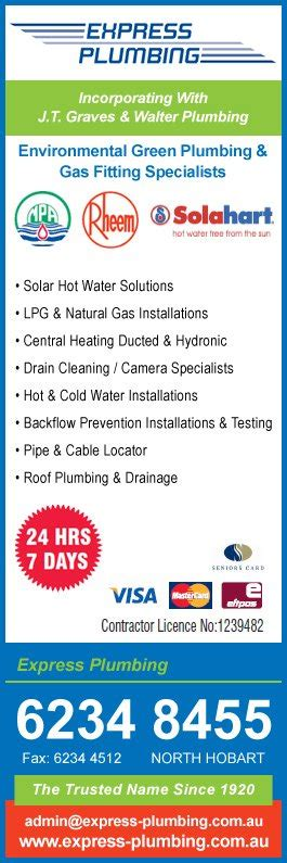 All Express Plumbing by Express Plumbing Plumbers Gas Fitters Hobart
