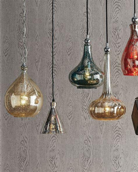 Mercury Glass Island Light Mercury Glass Pendant Light