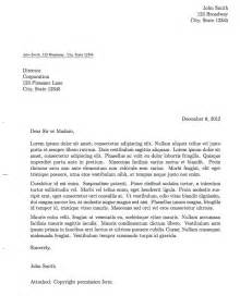 Formal Letter In English Formal Letter Template