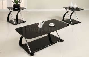 tisch mit schwarzer glasplatte black glass modern 3pc coffee table set w metal frame