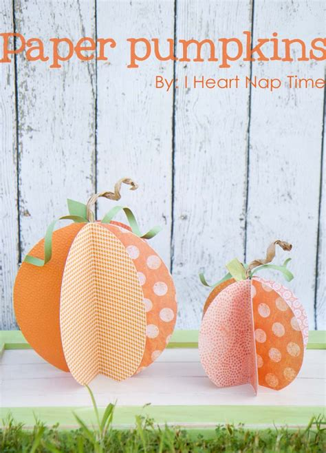 Paper Pumpkins - paper pumpkins pictured tutorial