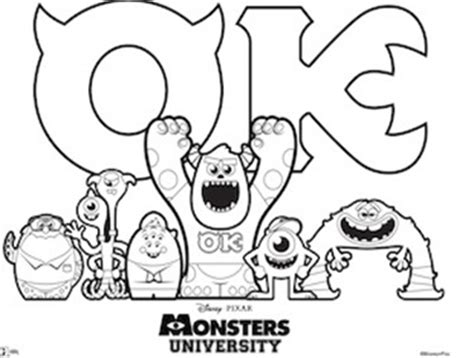 coloring pages for monsters university free monsters university activity sheets not quite