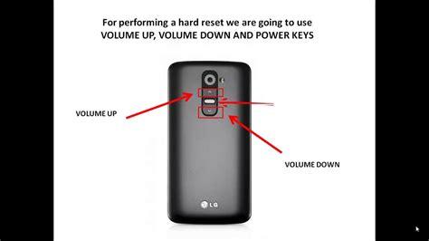 reset android lg g2 hard reset lg optimus g2 d802 youtube